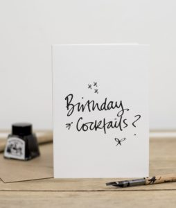 Birthday Cocktails Greeting Card