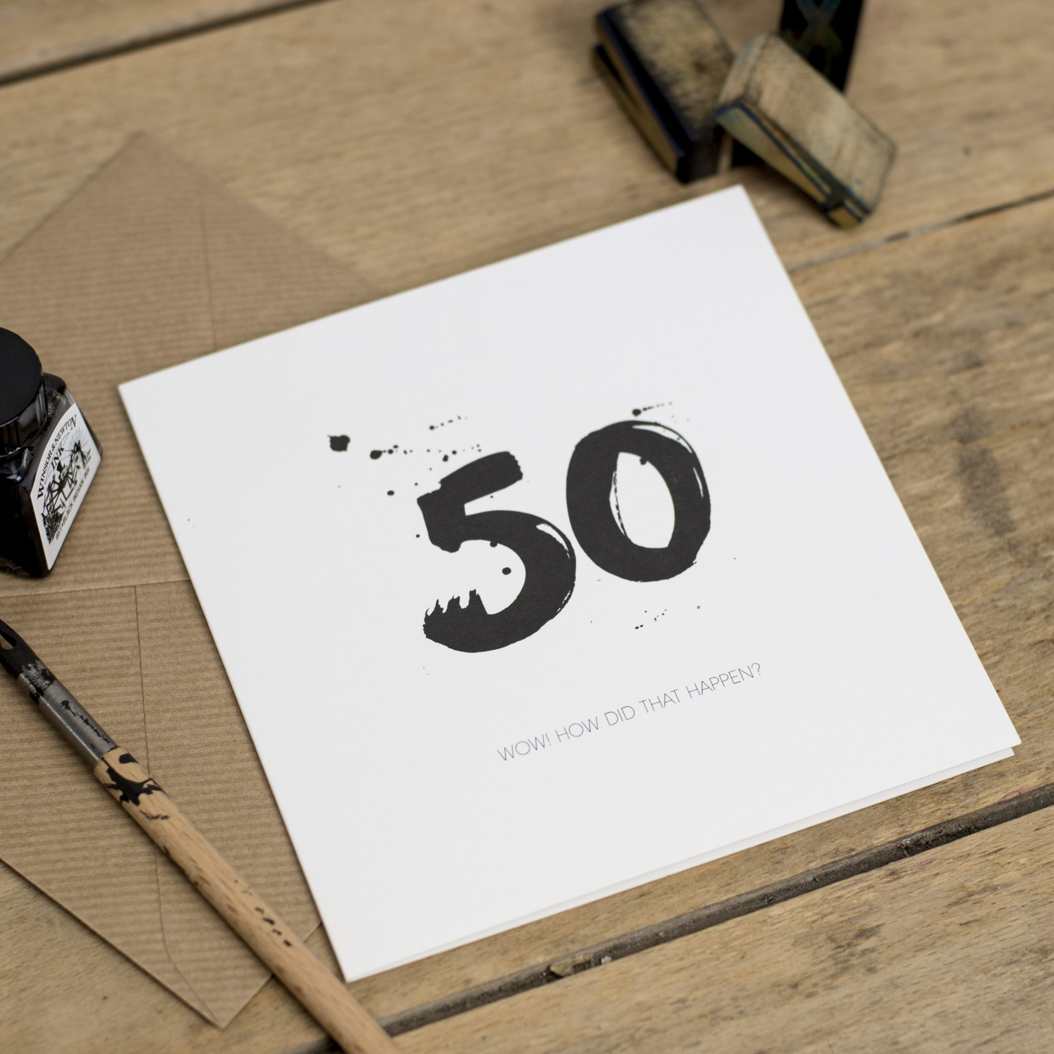 Age Fifty Greeting Card