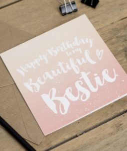 Happy Birthday Beautiful Bestie Greeting Card