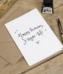 Happy Birthday Sugar Tits Greeting Card