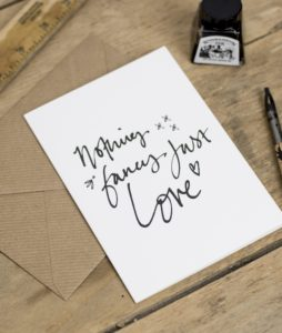 Nothing Fancy Just Love Greeting Card