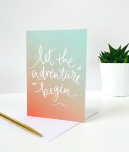 Let the Adventure Begin Greeting Card