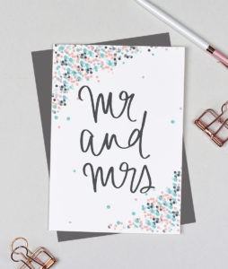 Mr and Mrs Greeting Card - Dots Range
