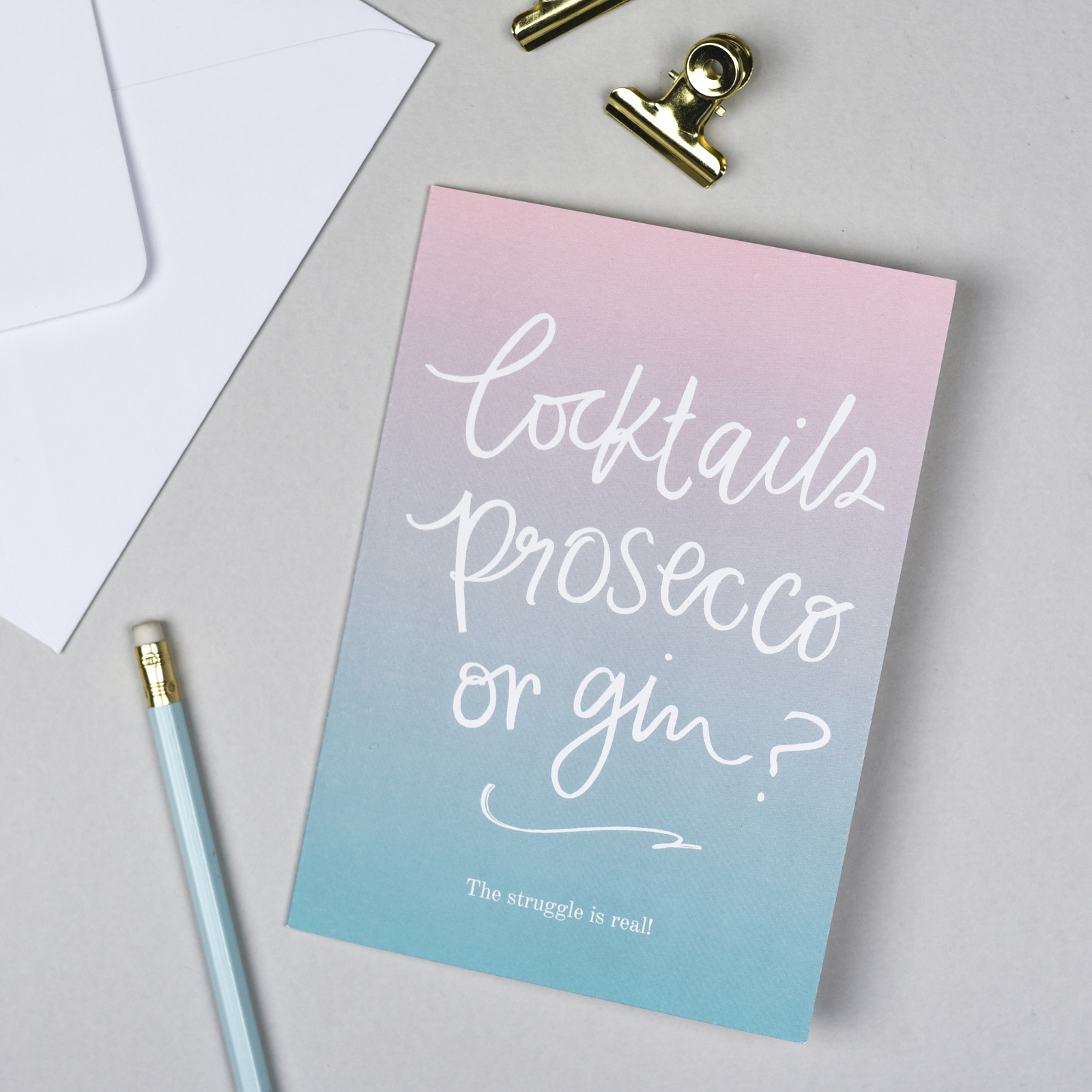 Cocktails, Prosecco or Gin Card