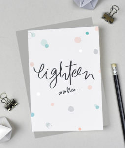 Eighteen - Eighteenth Birthday Card from the Bubbles Range