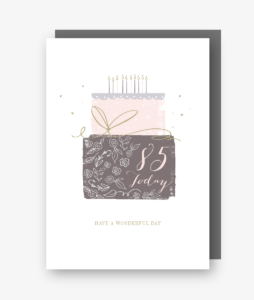 85 Today - 85th Birthday Card - gateau d'anniversaire