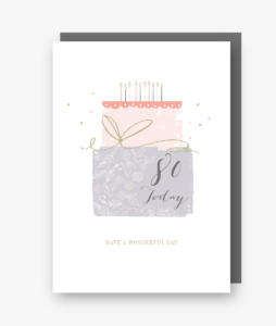80 Today - 80th Birthday Card - gateau d'anniversaire