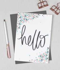 Hello Card from the Dots range