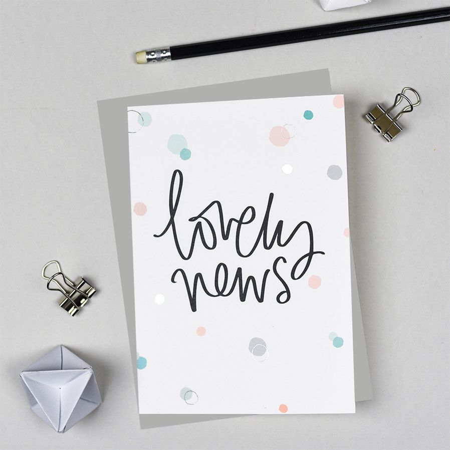 Lovely News Card from the Bubbles Range