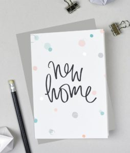New Home Card from the Bubbles range by Pearl of a Girl Stationery