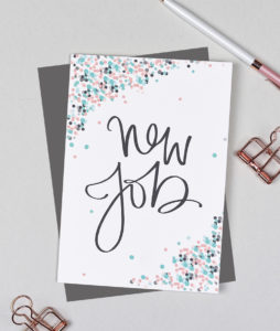 New Job Greeting Card - Dots Range