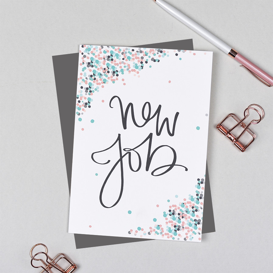 New Job Card Pearl Of A Girl Stationery