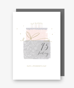 95 Today - 95th Birthday Card - gateau d'anniversaire
