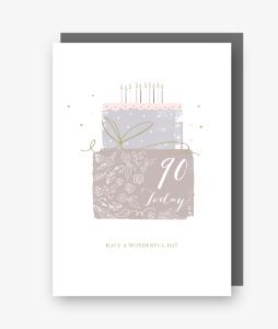 90 Today - 90th Birthday Card - gateau d'anniversaire