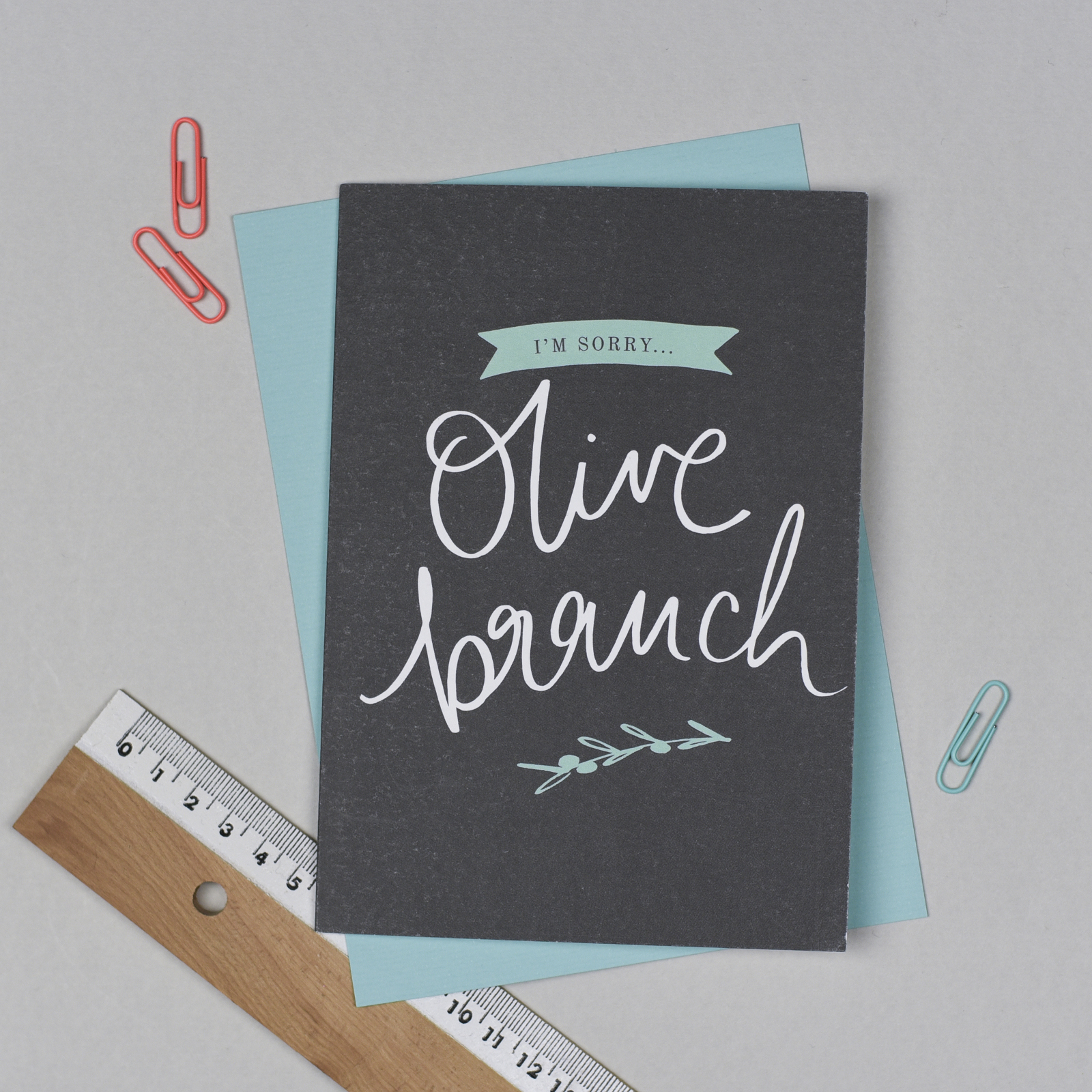 Olive Branch Sorry Card
