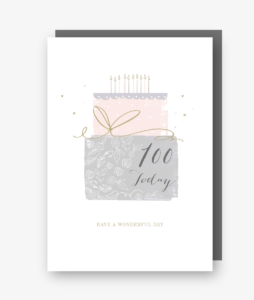 100 Today - 100th Birthday Card - gateau d'anniversaire