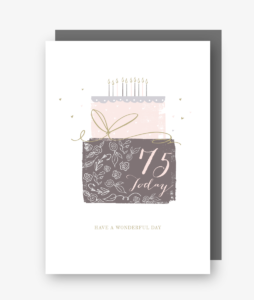 75 Today - 75th Birthday Card - gateau d'anniversaire