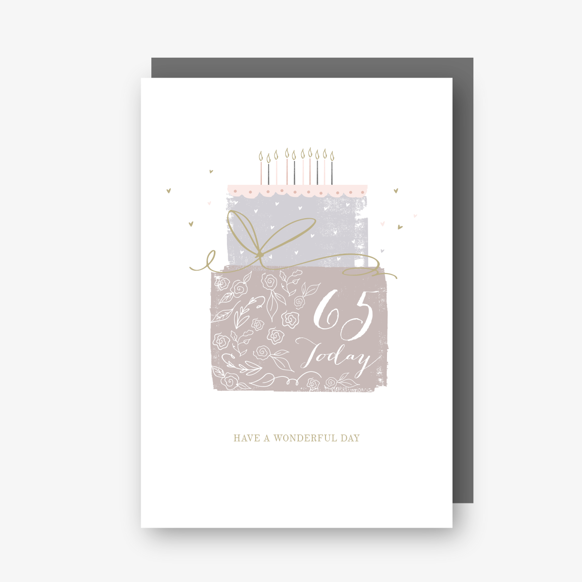 65 Today - 65th Birthday Card - gateau d'anniversaire