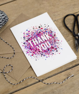 Thank You Card - Colour Explosion
