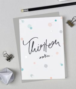 Thirteenth Birthday Card - Bubbles Range