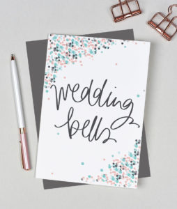 Wedding Bells Card from the Dots Range