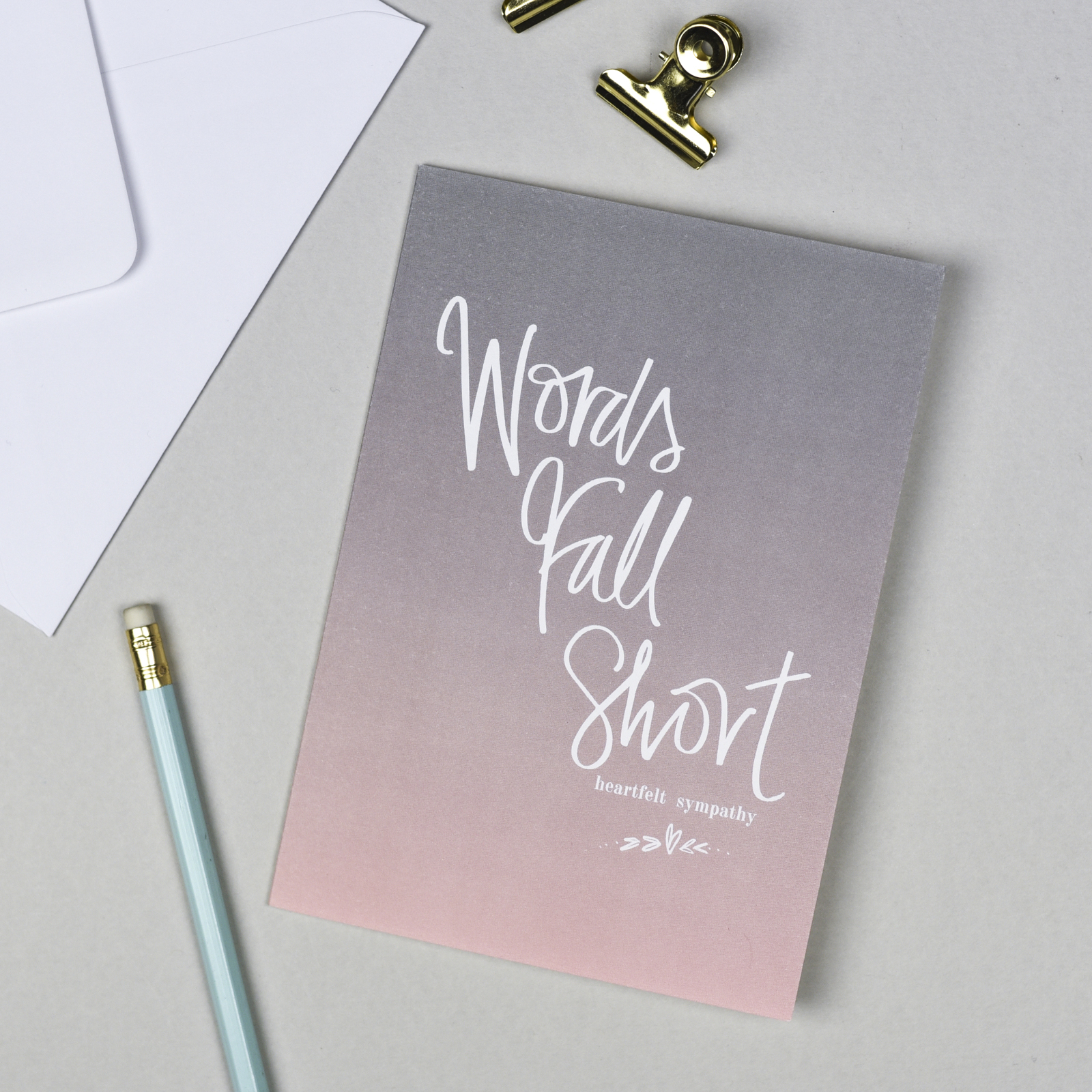 Words Fall Short Sympathy Card