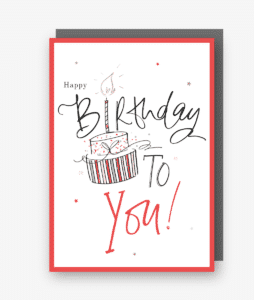 Happy Birthday To You Card (Red)