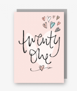 Twenty One - 21st Birthday Card